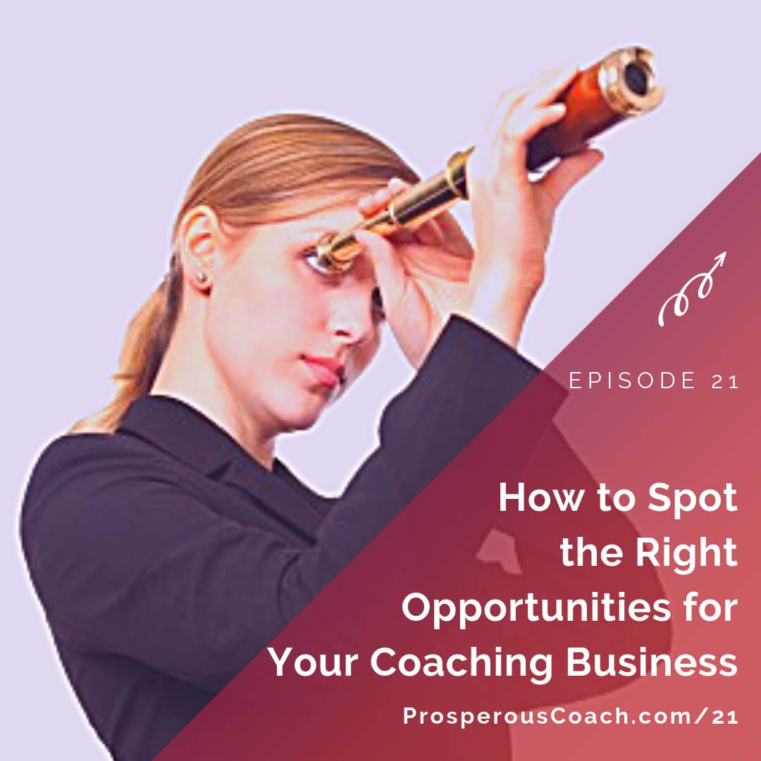 How to Spot the Right Opportunities for Your Coaching Business